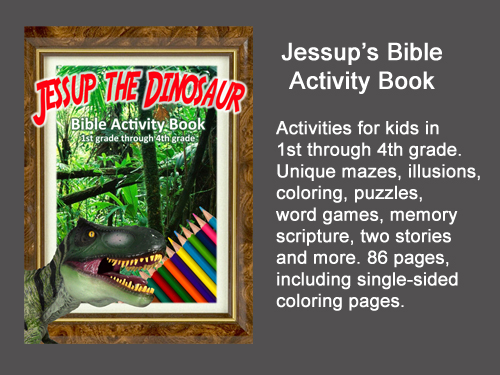 Jessup the Dinosaur's activity book